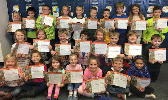 Second grade Lincolnview students completed Junior Achievement.  Junior Achievement is dedicated to giving young people the knowledge and skills needed for economic success.  (Photo submitted.)
