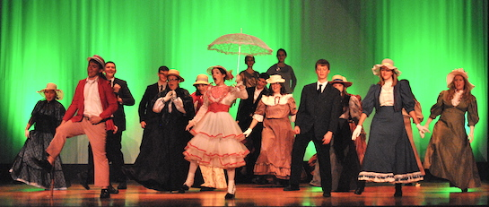 The Mary Poppins crew rehearses a song-and-dance number. (Photo submitted.)