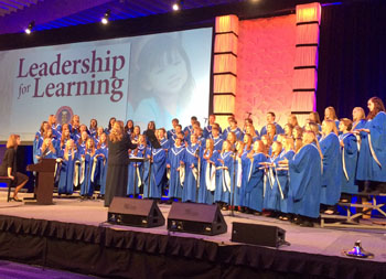 The Lincolnview High School choir performs at the OSBA Capital Conference in Columbus. (photo submitted)