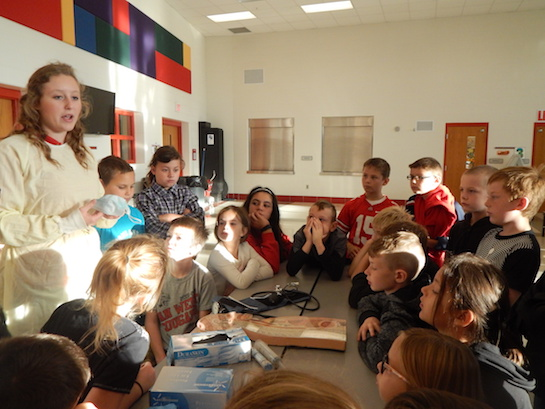 Vantage came to Van Wert Elementary School and held a mini-job fair with the fourth grade students.  (Photo submitted.)