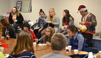 FCCLA members enjoy their Christmas breakfast with Mrs. Putman's class on December 16. (Photo submitted.)