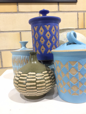 Items for sale at the Annual Artists' Exhibit and Sale, located at the Wassenberg Art Center, which will run through this coming Sunday, December 19. (Photo submitted.)