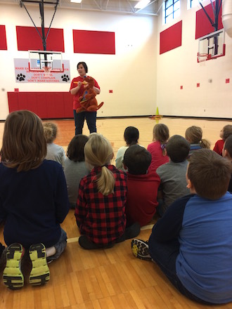 First graders at Van Wert Elementary learned about dental health from Dr. Jessica Mohr. (Photo submitted.)