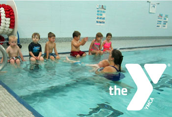 Here, swim instructor Amy Grime works with a class of 3-5-year-old children who are learning to float on their back during a session at the Y.  Registration for the eighth-week swim lesson session will end January 16, with classes beginning January 23. (YMCA photo)