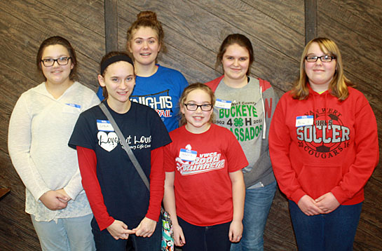 2017 Bunny Hopper 4-H Club officers include (from the left) Katie Gamble, reporter; Grace Mayes, secretary; Maddy Lamb, vice president; Natalie Hauter, safety; Abbey Bradford, president; and Allison Hauter, treasurer. (photo submitted)
