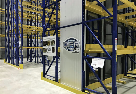 The new distribution center has floor to ceiling racking for storing products in the cooler area. (photo submitted)