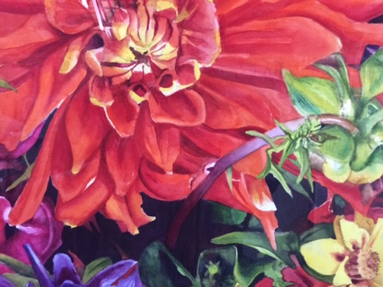 """Seattle Blooms"" (detail) a watercolor by Susan Lyden, is part of the Ohio Watercolor Society Traveling Exhibit 2016, now on display at the Wassenberg Art Center. (Photo submitted.)"