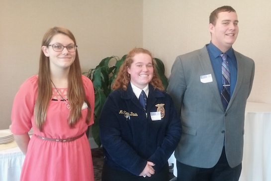 Congratulations to McKenzie Davis for winning the Van Wert Rotary Club 4 Way speech competition.  She will now get to move on to District competition in April. (Photo submitted.)
