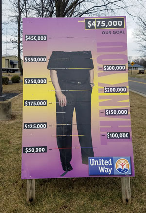 The United Way donation tracker shows more of the person featured this year. (photo submitted)