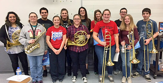 Shown are students from the Van Wert High School band program who will be performing during the 14 annual Van Wert County Young Artists Recital. (photo submitted)