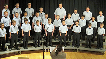 Current Van Wert Area Boychoir Director Lindsay Newlove directs the boychoir. (photo submitted)
