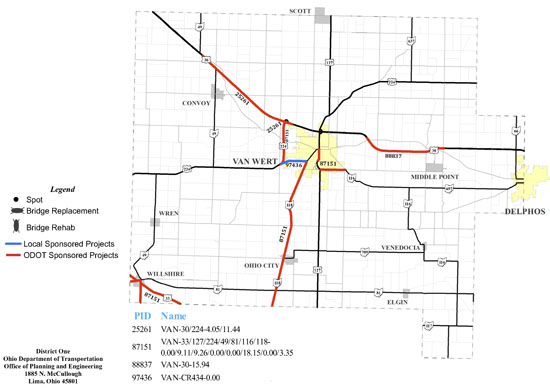 odot construction projects The following work is scheduled on state highways in the region, according to the ohio department of transportation: hancock county the southbound interstate 75.