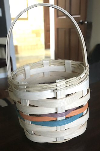 A small basket project will be featured for ArtNight, March 3/23 and will be taught by award-winning weaver Jayne Smith of Van Wert.  (Photo submitted.)
