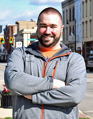 New Main Street Van Wert Program Manager Dan Baisden poses in downtown Van Wert. (photo submitted)
