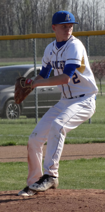 Lincolnview's Gavin Carter prepares to fire a pitch. Scott Truxell/Van Wert independent