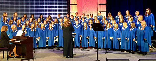 The Lincolnview Concert Choir performs at the 2017 Ohio School Boards Association Capital Conference. (photo submitted)