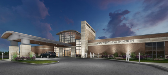 This artist's rendering shows the Van Wert Health Care North facility to be constructed at Towne Center.
